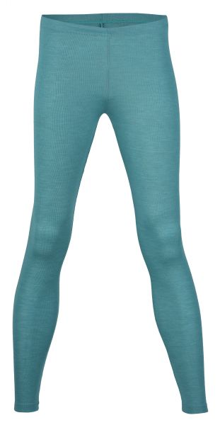 Damen-Leggings, Feinripp eisvogel