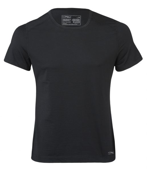 Herren-Shirt kurzarm, Single Jersey black