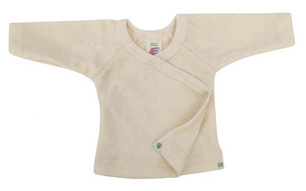 Baby-Pulli, mit Druckknöpfen an der Seite, Frottee natur