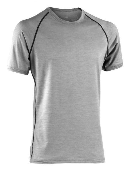 Herren Shirt kurzarm, Regular fit silver stone