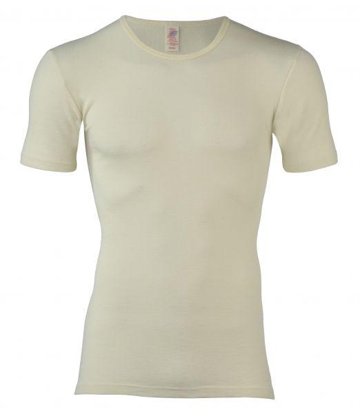 Herren-Shirt kurzarm, Feinripp natur