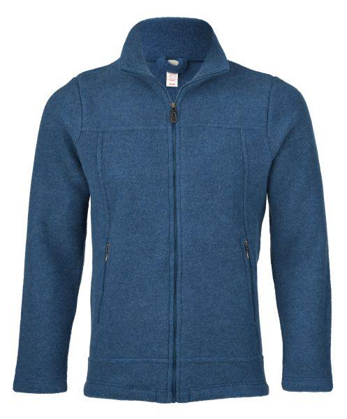 Herren-Jacke, tailliert, mit Reißverschluss auch an den Taschen, dickes Fleece saphir