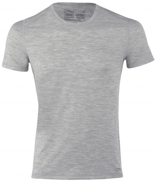 Herren-Shirt kurzarm, Regular fit silver stone