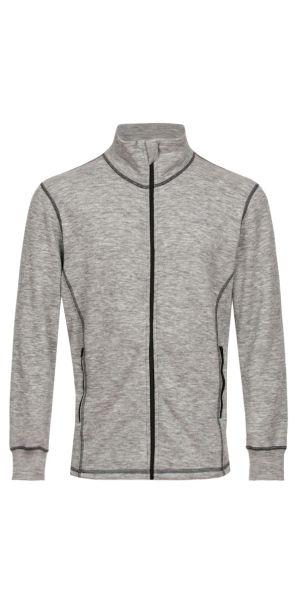 Sportive Jacke hellgrau melange (mit schwarz)