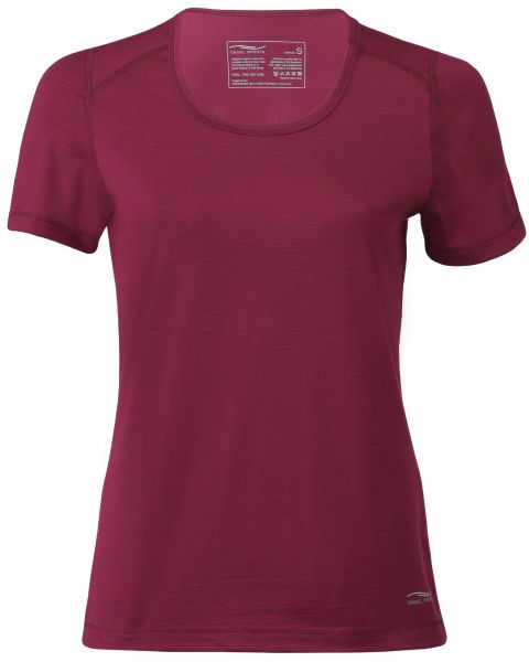 Damen Shirt kurzarm, Regular fit tango red