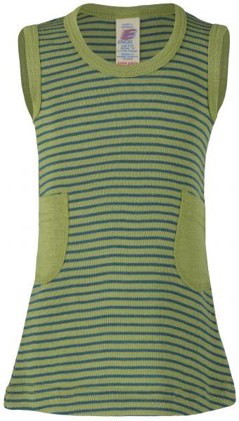 Baby-Kleidchen, Feinripp lime/hydro (8:4)
