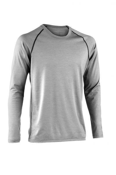 Herren Shirt langarm, Regular fit silver stone