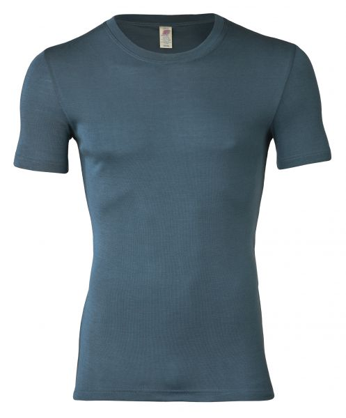 Herren-Shirt kurzarm, Feinripp atlantik