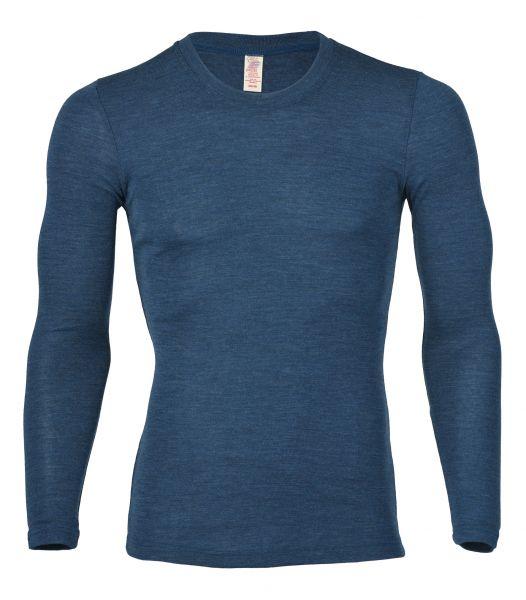 Herren-Shirt langarm, Feinripp saphir