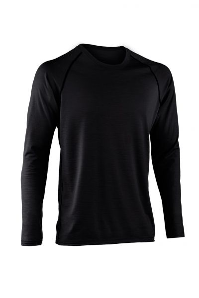 Herren Shirt langarm, Regular fit black