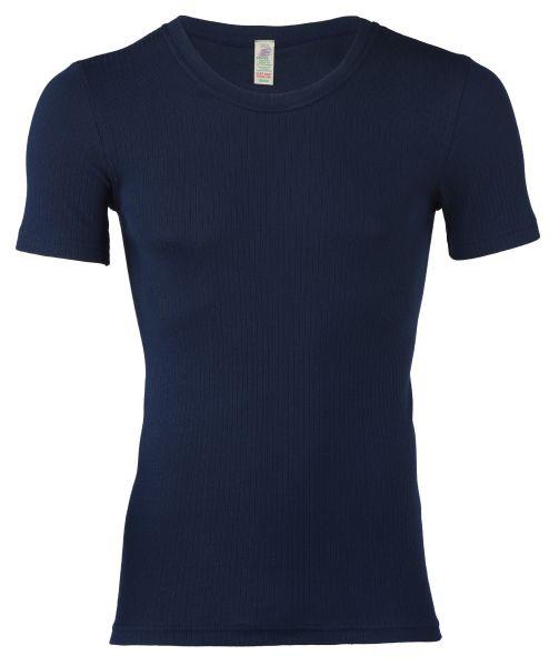 Herren-Shirt kurzarm, Nadelzug indigo