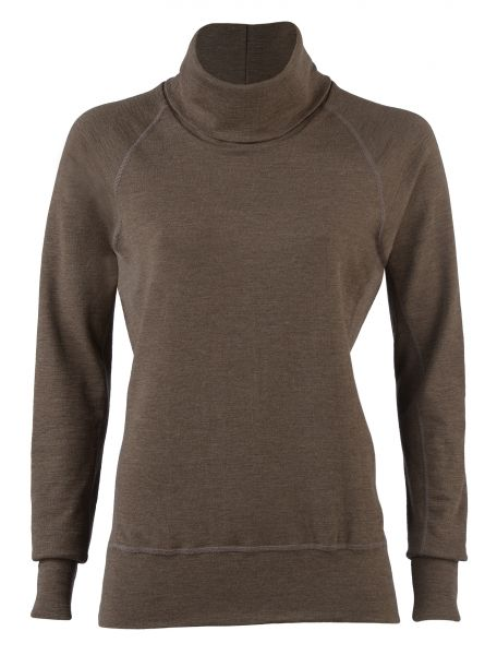 Damen-Sweater, dicker Feinripp bark
