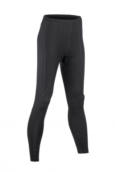 Damen-Leggings lang, Nähte in Kontrastfarben black