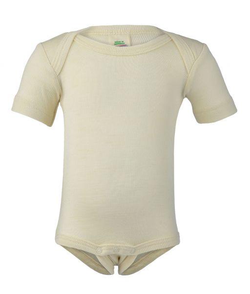 Baby-Body kurzarm, Feinripp natur