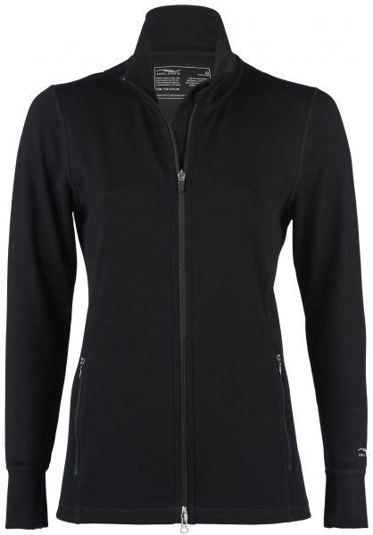 Damen Zipjacke mit Stehkragen black