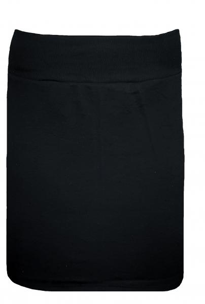 Damen-Rock, schwerer Feinripp schwarz