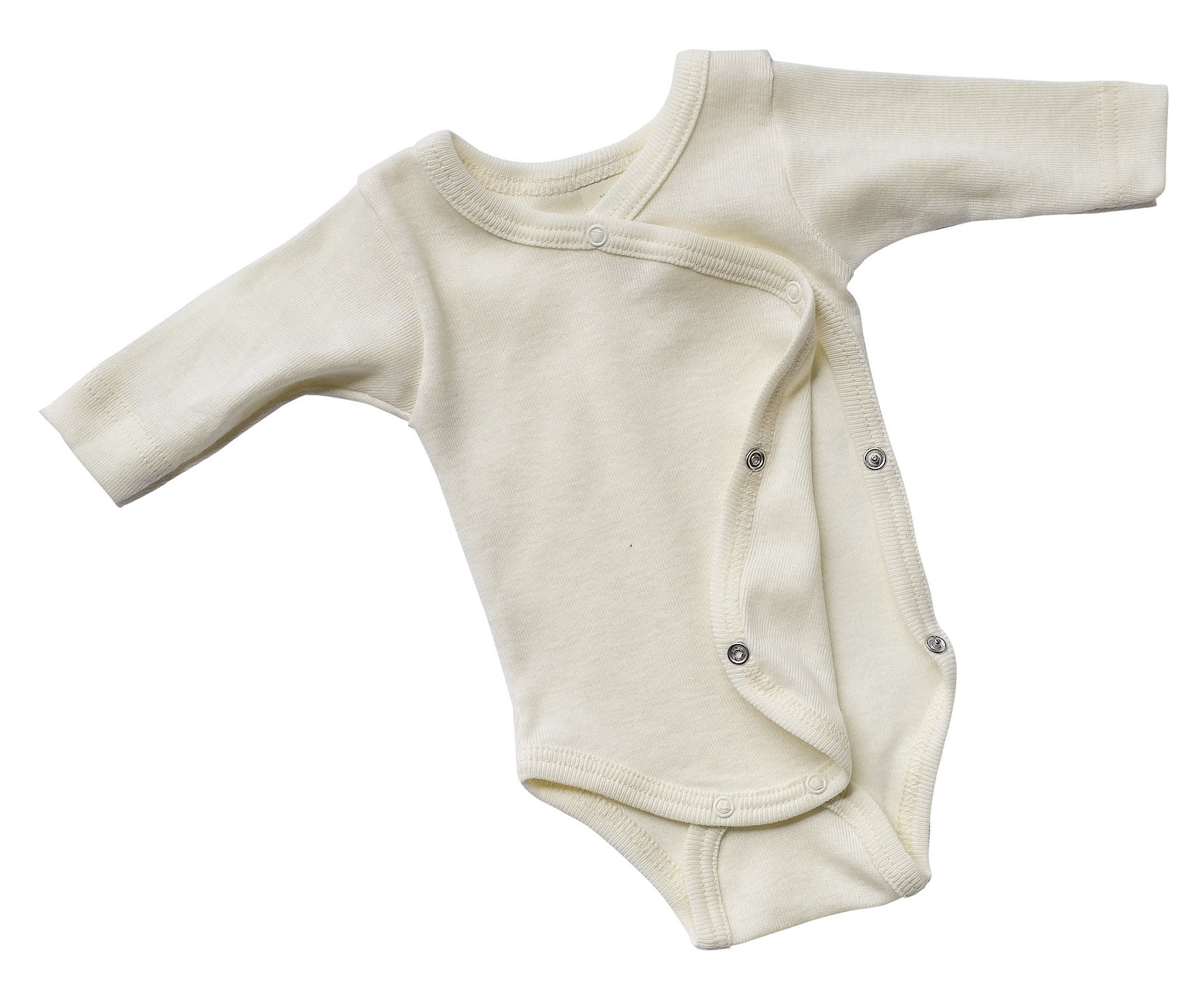 Lana de seda baby body con bot/ón de presi/ón/-/woll body de /ángel walnuss//natur 110 Engel Axil