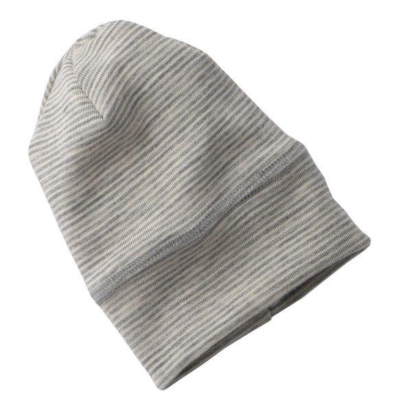 Baby-Mütze hellgrau melange/natur (3:2)