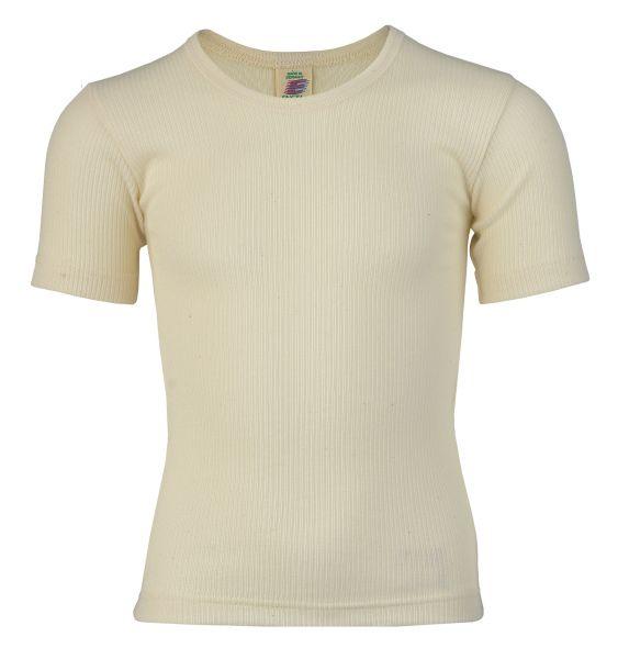 Unterhemd für Jungen kurzarm, Nadelzug natur