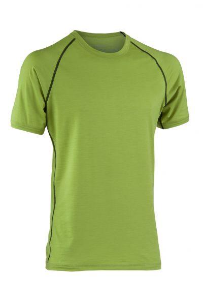 Herren Shirt kurzarm, Nähte in Kontrastfarben lime