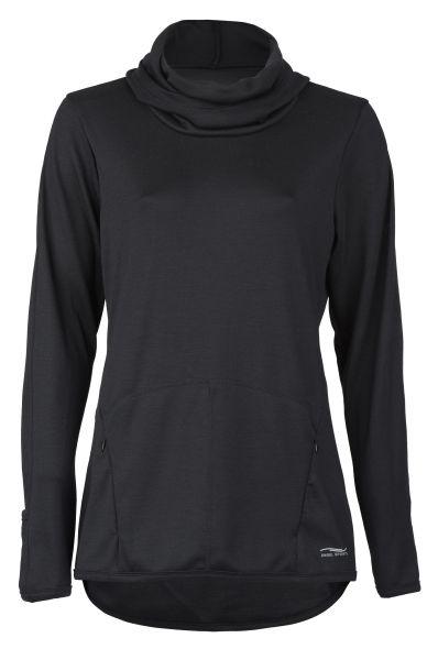 Damen-Hoody, mit Reißverschluss-Taschen black