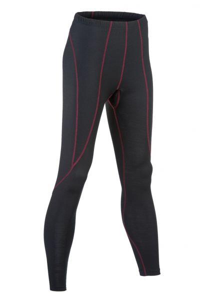 Damen-Leggings lang, Nähte in Kontrastfarben black
