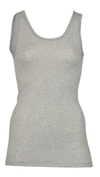 Damen-Trägerhemd, Feinripp hellgrau