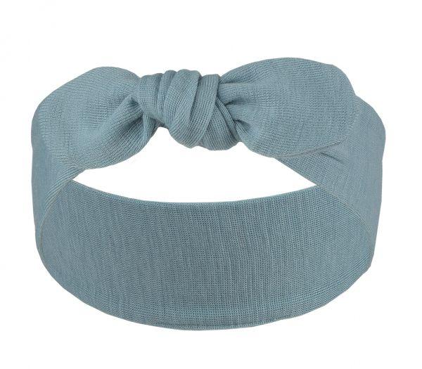 Baby-Stirnband zum Binden, Feinripp antiqueblue