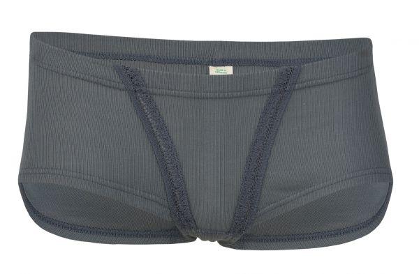 Damen-Panty, mit Spitzeneinsatz, Nadelzug graphit
