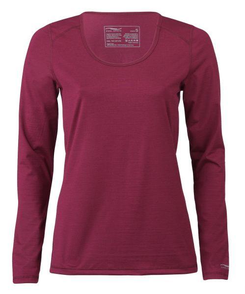 Damen Shirt langarm, Regular fit tango red