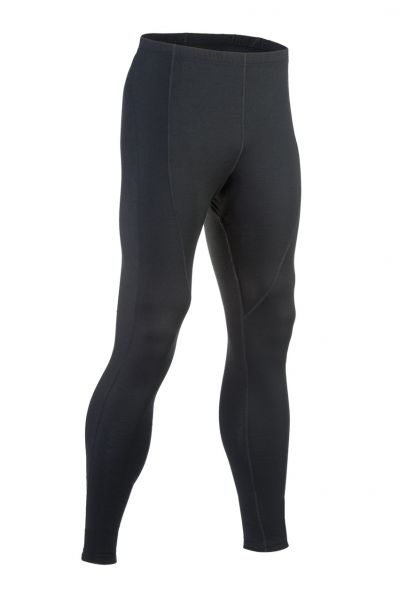 Herren-Leggings lang, Single Jersey black