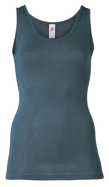 Damen-Trägerhemd, Feinripp atlantik