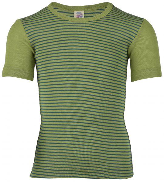 Kinder-Unterhemd kurzarm, Feinripp lime/hydro (8:4)