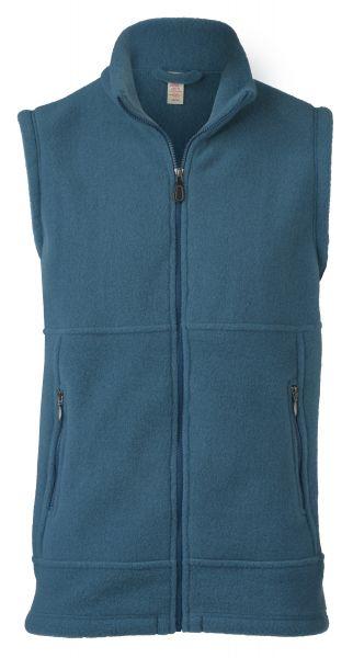 Herren-Weste, tailliert, mit Reißverschluss auch an den Taschen, dickes Fleece atlantik