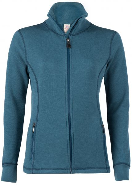 Damen-Jacke sportiv, Frottee inside out atlantik