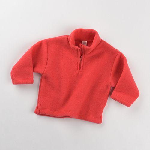 Pullover mit Reißverschluss und Kinnschutz, Fleece hibiscus