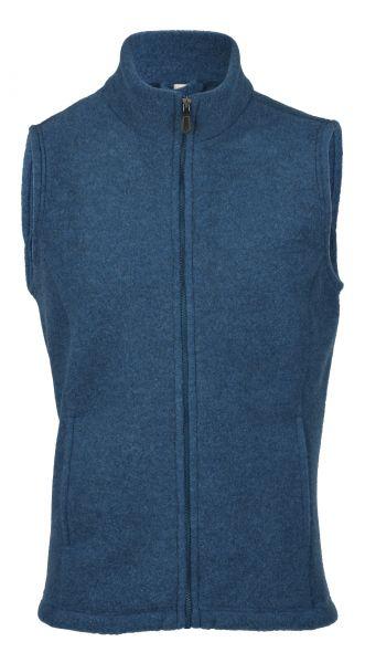 Herren-Weste, tailliert, mit Reißverschluss auch an den Taschen, dickes Fleece saphir