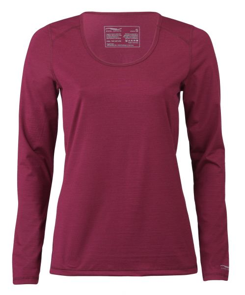 Damen Shirt langarm, Regular fit tango red