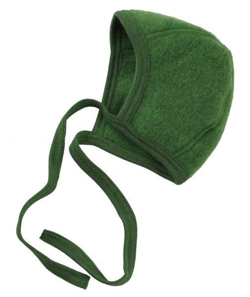 Baby-Häubchen, Fleece grün melange