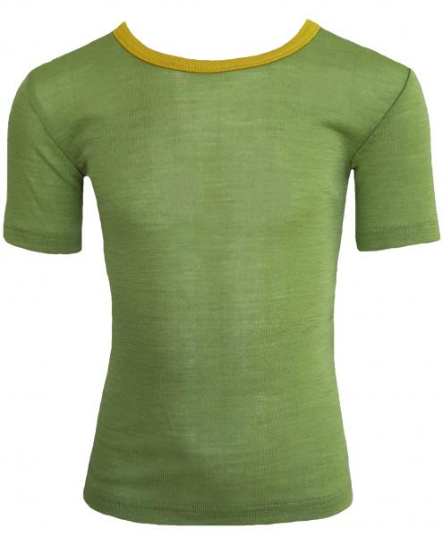Kinder-Unterhemd kurzarm, Feinripp lime