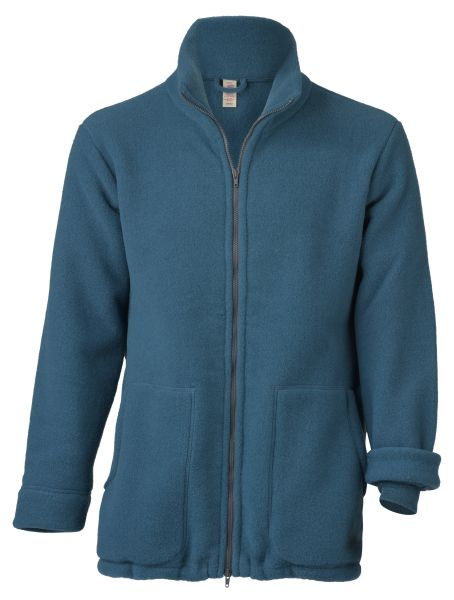 Unisex-Jacke mit 2-Wege-Reißverschluss, dickes Fleece atlantik