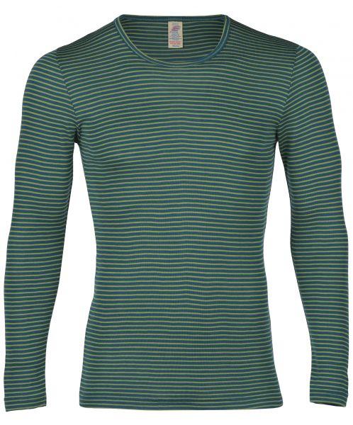 Herren-Shirt langarm, Feinripp hydro/lime (8:4)