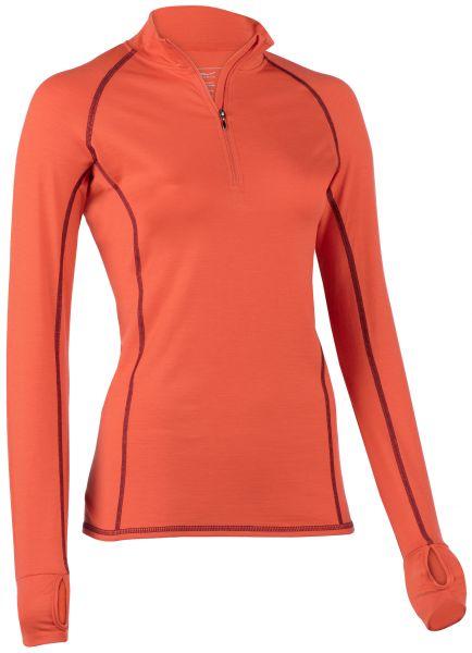 Damen Zip-Shirt langarm, Slim fit spicy
