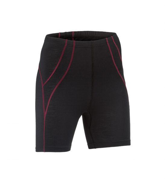 Damen-Shorts, Nähte in Kontrastfarben, Schlüsseltasche vorne black
