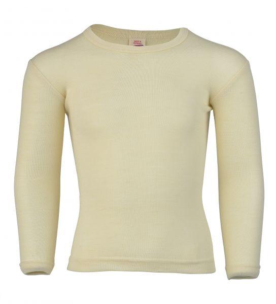 Kinder-Unterhemd langarm, Feinripp natur