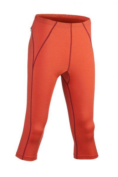 Damen-Leggings 3/4 lang, Nähte in Kontrastfarben, Schlüsseltasche mit Reißverschluss hinten spicy