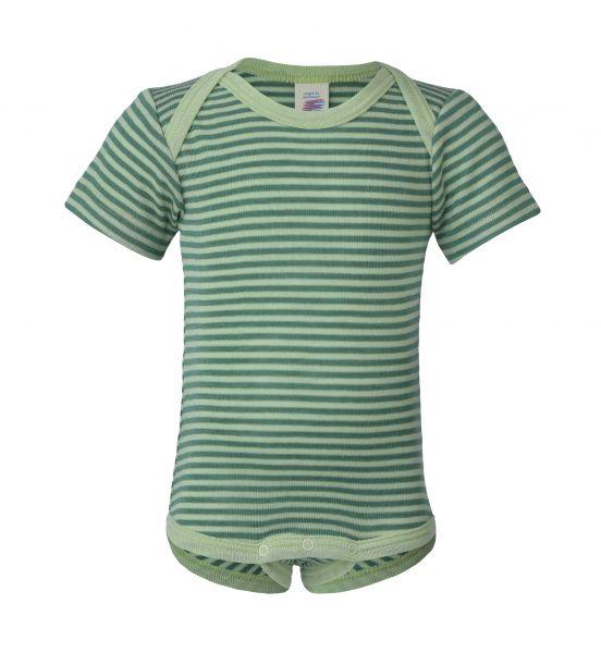 Baby-Body kurzarm, Feinripp pastellgrün/frühlingsgrün (5:5)