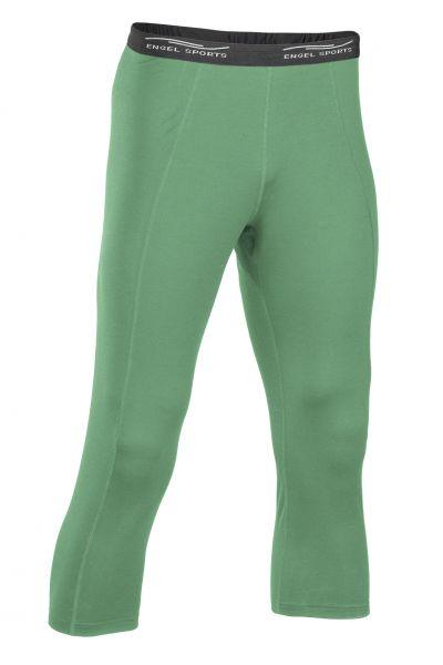 Damen Leggings 3/4 lang, Schlüsseltasche hinten smaragd