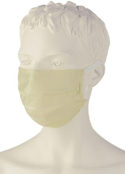 Wiederverwendbare Behelfs-Mund-Nasen-Maske (5er-Pack), 100% Baumwolle (kbA) natur
