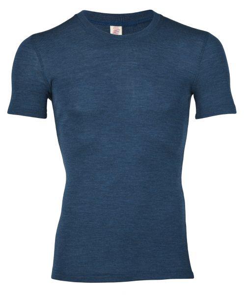 Herren-Shirt kurzarm, Feinripp saphir